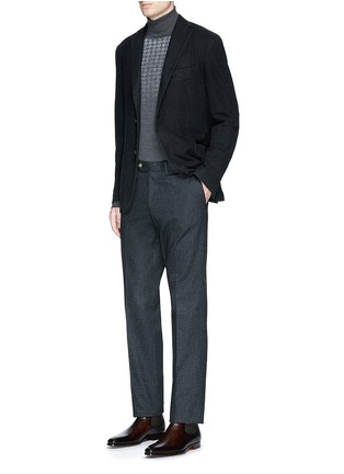 Figure View - Click To Enlarge - Boglioli - 'K-Jacket' wool flannel soft blazer