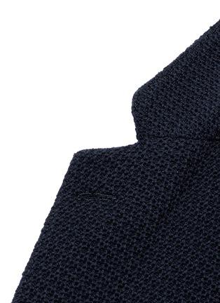 Detail View - Click To Enlarge - Boglioli - 'Casati' textured wool knit soft blazer