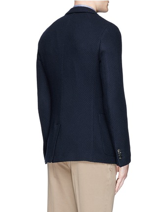 Back View - Click To Enlarge - Boglioli - 'Casati' textured wool knit soft blazer