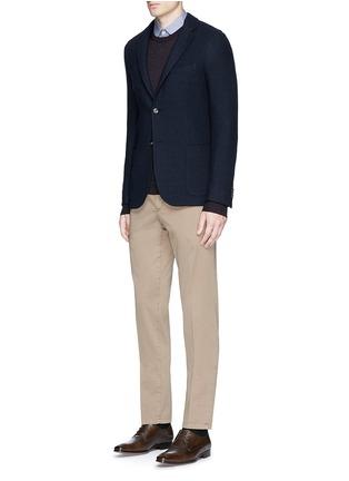 Figure View - Click To Enlarge - Boglioli - 'Casati' textured wool knit soft blazer