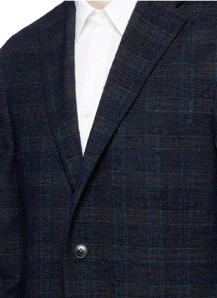 Detail View - Click To Enlarge - Boglioli - 'K-Jacket' check bouclé soft blazer