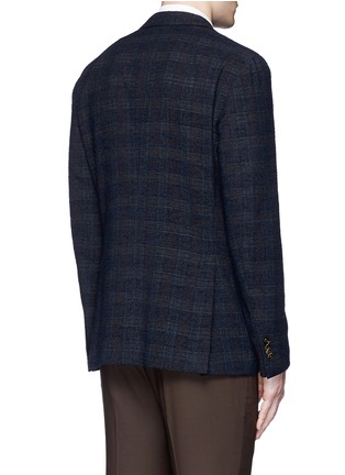 Back View - Click To Enlarge - Boglioli - 'K-Jacket' check bouclé soft blazer
