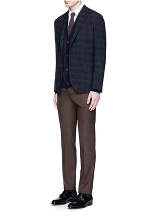 Figure View - Click To Enlarge - Boglioli - 'K-Jacket' check bouclé soft blazer