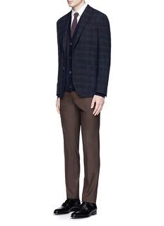 Boglioli'K-Jacket' check bouclé soft blazer