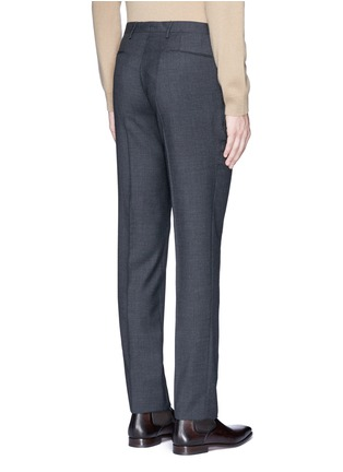 背面 - 点击放大 - BOGLIOLI - 暗格纹羊毛西服裤