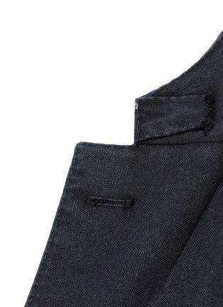 Detail View - Click To Enlarge - Boglioli - 'K-Jacket' wool hopsack soft blazer