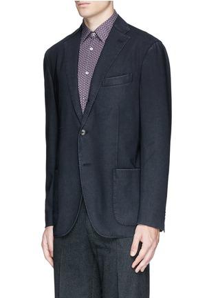 Front View - Click To Enlarge - Boglioli - 'K-Jacket' wool hopsack soft blazer