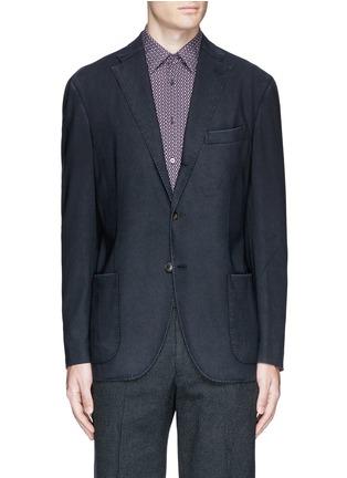 Main View - Click To Enlarge - Boglioli - 'K-Jacket' wool hopsack soft blazer