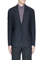 'K-Jacket' wool hopsack soft blazer