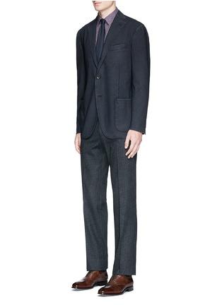 模特儿示范图 - 点击放大 - BOGLIOLI - 单色羊毛休闲西服外套