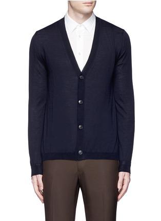 Main View - Click To Enlarge - Boglioli - Wool cardigan