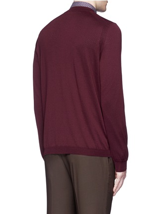 Back View - Click To Enlarge - Boglioli - Wool cardigan