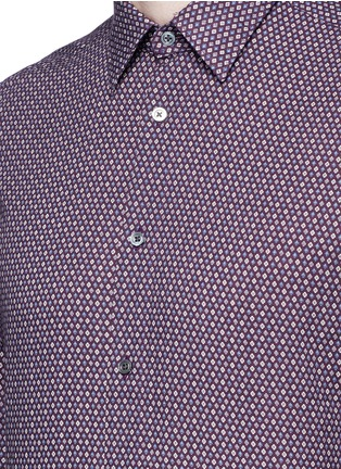 Detail View - Click To Enlarge - Boglioli - Floral print cotton shirt