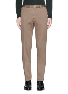 Boglioli Slim fit stretch cotton chinos