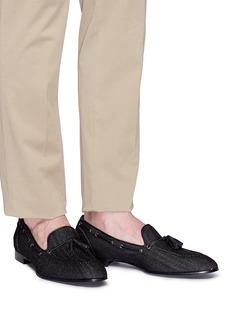 Louis Leeman Tassel denim loafers