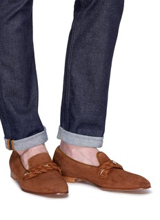 Louis Leeman Star Studs suede loafers