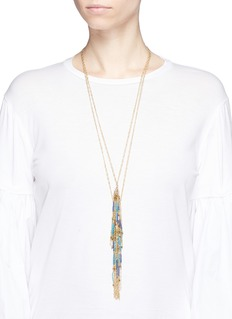 Rosantica 'Paguro' tiered beaded tassel necklace