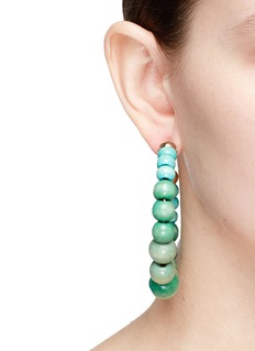 Rosantica 'Inganno' gradient beaded hoop earrings