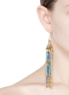 Rosantica 'Paguro' mixed bead fringe drop earrings