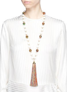 Rosantica 'Arlecchino' beaded tassel pendant necklace