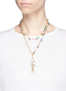 Rosantica 'Arsella' beaded tiered fishbone pendant necklace
