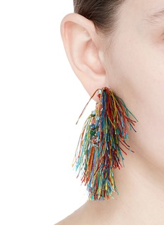 Rosantica 'Coraggio' beaded fringe hoop earrings
