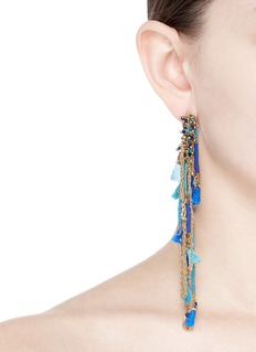 Rosantica 'Tortuga' beaded fringe hoop earrings