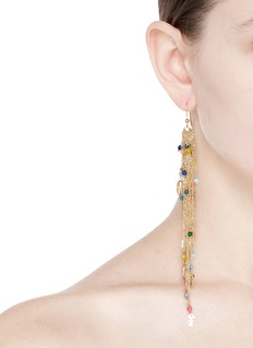 Rosantica 'Arsella' beaded fringe charm drop earrings