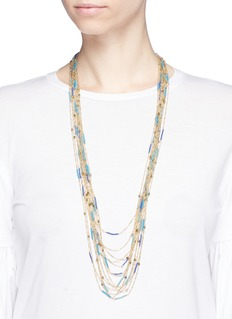 Rosantica 'Tortuga' beaded multi strand long necklace