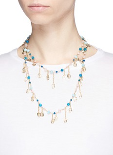 Rosantica 'Antilla' beaded seashell charm necklace