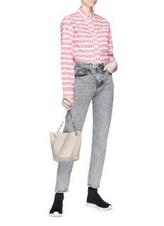 PROENZA SCHOULER PSWL品牌名称条纹府绸衬衫