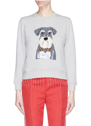 Main View - Click To Enlarge - Alex Foster x Lane Crawford - Schnauzer embroidered sweatshirt