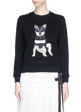 Main View - Click To Enlarge - Alex Foster x Lane Crawford - Shiba inu embroidered sweatshirt