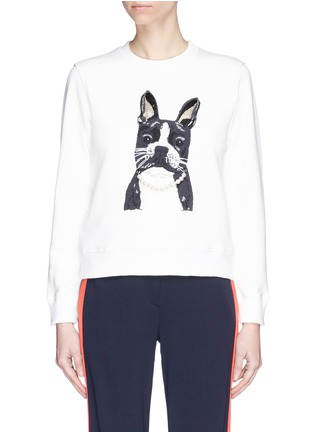 Main View - Click To Enlarge - Alex Foster x Lane Crawford - Frenchie embroidered sweatshirt