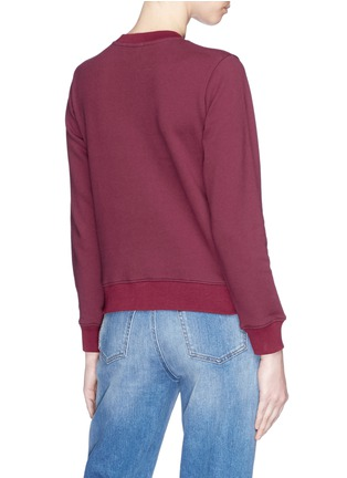 Back View - Click To Enlarge - Alex Foster x Lane Crawford - Beagle embroidered sweatshirt