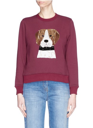 Main View - Click To Enlarge - Alex Foster x Lane Crawford - Beagle embroidered sweatshirt