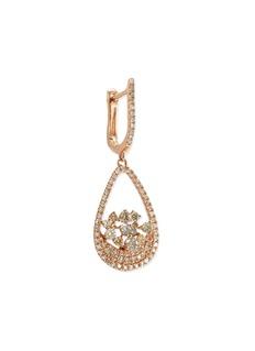Lorde Jewlery 'Bird' diamond cluster teardrop earrings