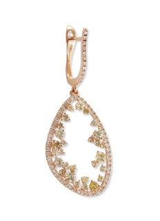 Lorde Jewlery 'Eclipse' diamond 18k rose gold irregular hoop drop earrings