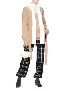 Chloé Check virgin wool blend knit pants