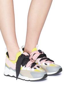 Pierre Hardy 'Trek Comet' detachable scarf neoprene sneakers