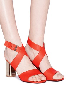 Robert Clergerie 'Zora' cross strap leather slingback sandals