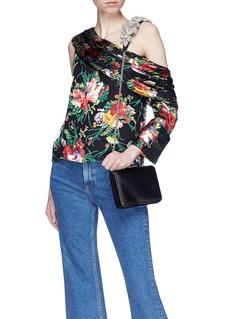 Sophia Webster 'Vivi' floral embellished shoulder strap satin clutch