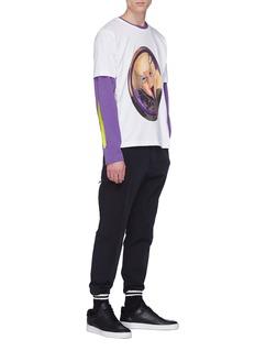 Rochambeau x Aaron Curry graphic print long sleeve T-shirt