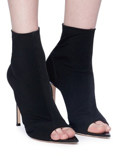 Gianvito Rossi 'Gotham' knit sock sandal boots