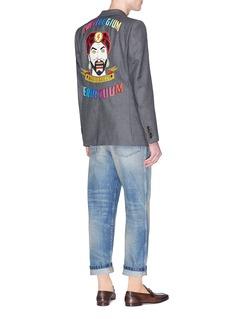 Gucci 'Mitford' magician slogan appliqué wool blazer