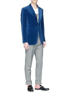 Gucci Peaked lapel velvet blazer