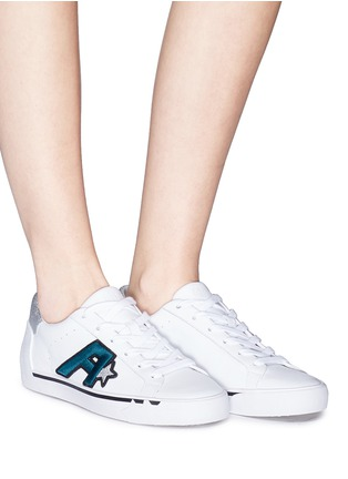 Figure View - Click To Enlarge - Ash - 'Next' logo patch leather sneakers