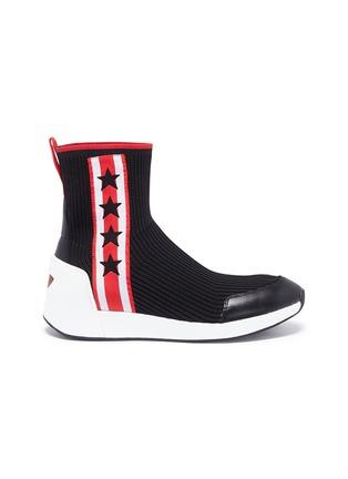 Main View - Click To Enlarge - Ash - 'Jango' star stripe high top sock knit sneakers