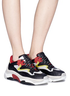Ash 'Addict' colourblock mesh panel leather sneakers