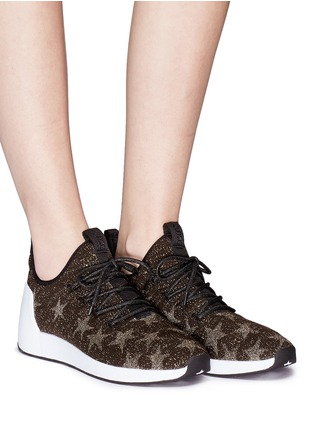 Figure View - Click To Enlarge - Ash - 'Jaguar' star jacquard knit sneakers